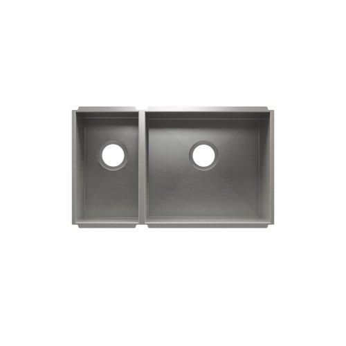 """UrbanEdge® 003648 - undermount stainless steel Kitchen sink , 9"""" × 16"""" × 8""""  18"""" × 16"""" × 10"""""""