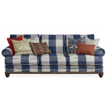 Blue Check Sofa (Buffalo Downpour)