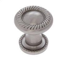 Satin Nickel 31 mm Rope Knob w/Back Plate