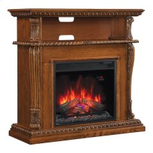Corinth TV Stand with Electric Fireplace Wall or Corner