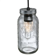 "4.75""W Mason Jar Mini Pendant"