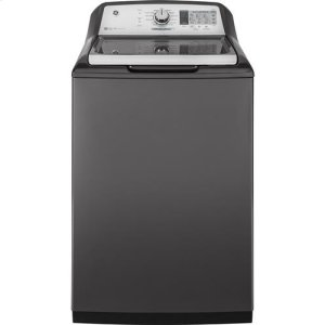 GE 5.8cu. ft. stainless steel capacity washer AND GE 7.4 cu. ft. Capacity Smart aluminized alloy drum Electric Dryer with HE Sensor Dry SET**OPEN BOX ITEM** West Des Moines Location