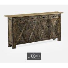 Light & Dark Driftwood Narrow Sideboard