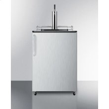 Commercially Approved Portable Beer Dispenser With Black Cabinet and Stainless Steel Door
