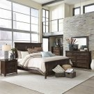 King Panel Bed, Dresser & Mirror, Chest, NS Product Image