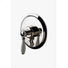 Easton Classic Pressure Balance with Diverter Trim with White Porcelain Lever Handle STYLE: EAPB93