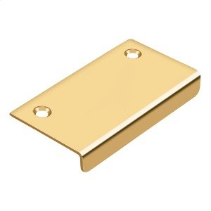 "Drawer, Cabinet, Mirror Pull, 3""x 1-1/2"" - PVD Polished Brass Product Image"