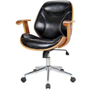 Costa Office Chair, Black/Walnut