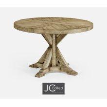 "48"" Light Driftwood Circular Dining Table"