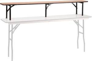72'' x 12'' x 12'' Bar Top Riser with Black Legs Product Image