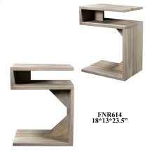 Bengal Manor Acacia Wood S Accent Table Brushed White Finish