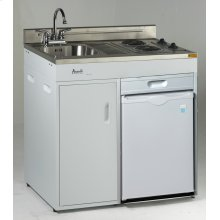 "36"" Complete Compact Kitchen with Refrigerator"