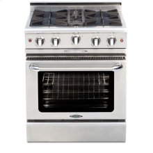 "30"" four open top burner gas manual-clean range + convection oven - LP"