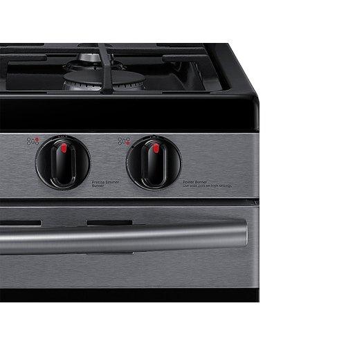 5.8 cu. ft. Freestanding Gas Range in Black Stainless Steel