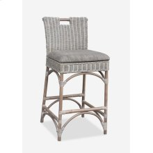 Natural Rattan CounterStool - grey wash