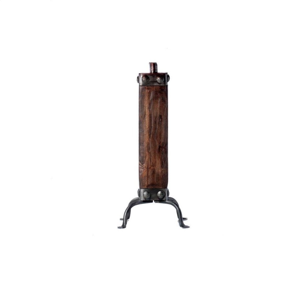 Dark Wood & Iron Lamp