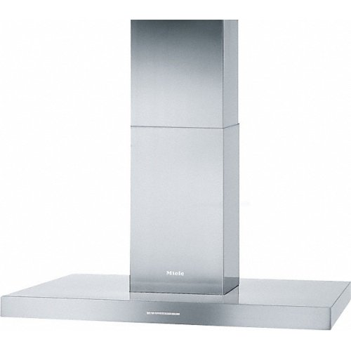 PUR 98 D Island décor hood with energy-efficient LED lighting and backlit controls for easy use.