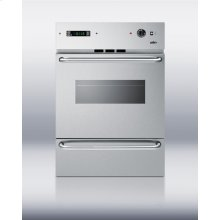 "Stainless steel gas wall oven with window, electronic ignition and digital clock/timer; for cutouts 22 3/8"" wide by 34 1/8"" high"