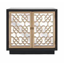 Chloe Mirrored-Door Cabinet