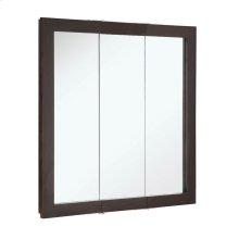 """Ventura Tri-View Medicine Cabinet Mirror 30"""", Espresso #541342"""