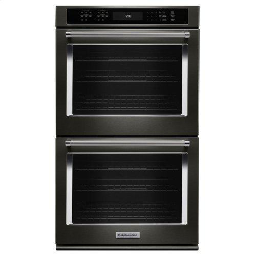 "27"" Double Wall Oven with Even-Heat True Convection - Black Stainless Steel with PrintShield™ Finish"
