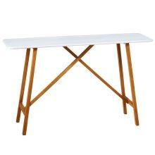 White Enamel Console Table