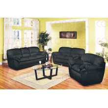 "BONDED LEATHER LOVESEAT 58""X42-1/2""X43-3/4""H"