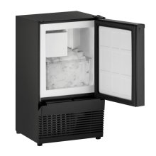 "14"" Crescent Ice Maker Black Solid Field Reversible"