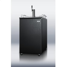 Full-sized beer dispenser in black for home use, complete with all accessories