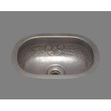 B1014 - Small Roval Style Lavatory - Garland Pattern - Antique Brass