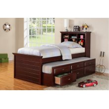 F9220 / Cat.19.p100- TWIN BED W/TRUNDLE D.CHERRY