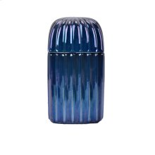 Decorative Ceramic Covered Jar, Blue