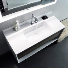 "series 1200 blustone™ vanity top, 1/2"" thick, White gloss 47 1/2"" x 20 1/4"""