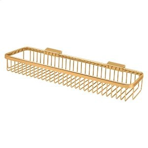 """Wire Basket 17-1/2""""x 4-3/8"""", Rectangular - PVD Polished Brass Product Image"""