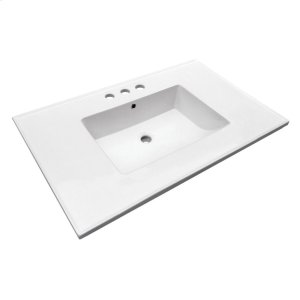"Hartley 37"" Vanity Top - 8"" Widespread Product Image"