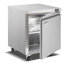 One Door, Stainless Steel Solid Door Commercial Undercounter Freezer
