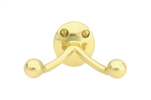 Traditional Brass Double Hook Product Image