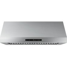 "Modernist 48"" Wall Hood, Silver Stainless Steel"