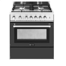 "Matte Black 30"" Gas Range"