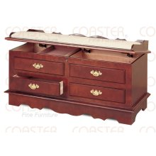 CHEST PADDED WOOD CHRRY/ F