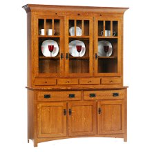 3-Door Mission Hutch & Buffet