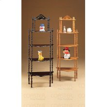 "ETAGERE 5 TIER WOOD CHERRY,18.75""x11""x51""H"