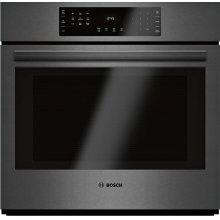 800 Series Single Wall Oven 30'' Black stainless steel