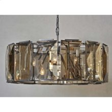 Large Beveled Glass 6-Light Chandelier