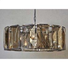 Large Beveled Glass 6-Light Chandelier