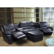 SOFA SEC, W/LEFT MOTOR F/BLK LEATHER MATCH
