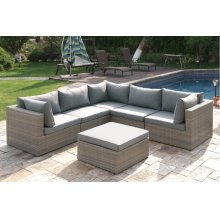 409 / Liz.p30- 6PC OUTDOOR PATIO SOFA SET [P50141(3)+P50143(2)+P50145(1)]