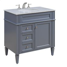 32 in. Single Bathroom Vanity set in Grey