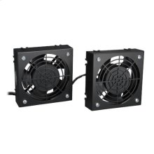 Wall-Mount Roof Fan Kit - Dual 230V High-Performance Fans, 210 CFM, 3 ft. Cord, C14 Input