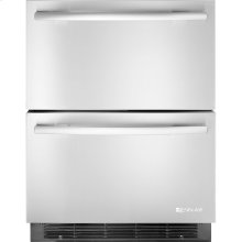 """Double-Refrigerator Drawers, 24""""(w), Euro-Style Stainless Handle"""